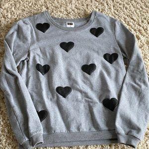 Kings of Cole Grey Sweatshirt Black Hearts Small